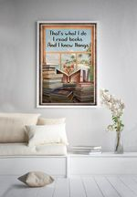 Reading Cat That's What I do I Read Books I Know Things Home Decor Poster