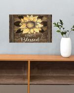 Simply Blessed Sunflower Poster No Framed