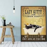 Lazy Kitty poster-Save water use your tongue cat poster