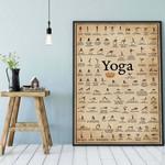 yoga poster Iyengar yoga asanas Yoga Prints yoga poster
