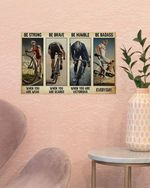 Cycling when you are scared Poster Canvas