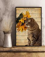 You Are My Sunshine Cat Vertical Poster Canvas