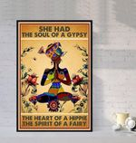 The Soul of a Gypsy The Heart of a Hippie The Spirit of a Fairy Yoga poster