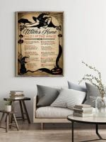 Witches Home Rules Of The House Halloween Home Decor Poster