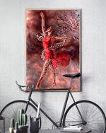 Latina Girl Soulful Royal Poster No Framed