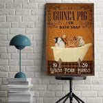 Guinea Pig Wash Your Hand poster