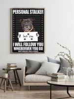 Pitbull Personal Stalker Criminal Poster