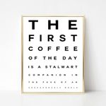 The first coffee of the day poster