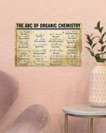 The ABC Of Organic Chemistry Periodic Table Poster, Science Poster, Chemistry Science Art, Science Wall Art Poster