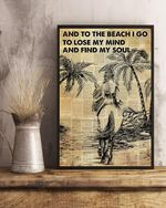 Hippie Into The Ocean And Find My Soul Poster No Framed