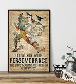 Let Us Run With Perseverance The Race Marked Out For Us poster