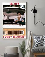 Travelling Girl Vertical Poster Canvas