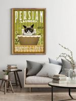 Persian Laundry Wash & Dry Home Decor Poster