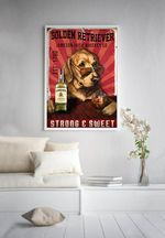 Golden Retriever Jameson Irish Whiskey Co Strong And Sweet Poster