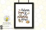 autumn leaves pumpkins please poster