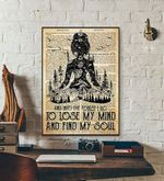 yoga poster Lose My Mind and Find My Soul Stay wild moon child Yoga Prints yoga poster