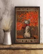 Cat Halloween It's The Most Wonderful Time Vertical Poster Canvas
