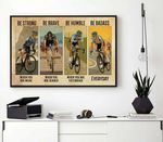 Be Strong Be Brave Be Humble Be Badass Vintage Bicycle poster
