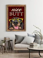 Funny Dog Nice Butt Dog Poster
