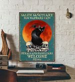 Salem Sanctury For WayWard Cats Feral and Familiar halloween poster