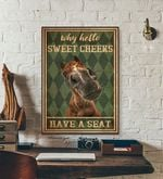 Bathroom poster Horss Why Hello Sweet Cheeks Have A Seat poster