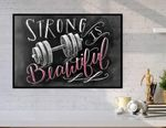 Strong Is Beautiful Dumbbell poster
