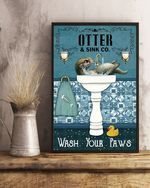 Wash Your Paws - Otter Poster No Framed