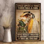 Garden Once Upon A Time There Was A Girl Vertical Poster Canvas