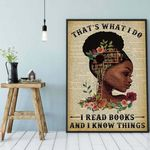 I Read Book And I Know Things wall poster