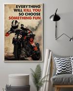 Motor Racing Choose Something Fun Poster Canvas