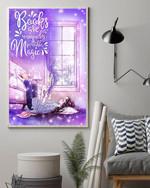 Books Are A Uniquely Portable Magic Reading Poster Canvas