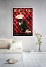 Black Cat Coffee Co Purrrfectly Delicious Home Decor Poster
