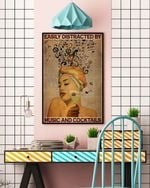 Girl Easily Distracted By Music And Cocktails Poster Canvas