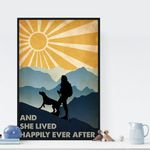 Dog And She Lived Happily Ever After Vintage poster