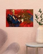 A Man With Trumpet Painting Poster Vintage Wall Art Poster No Frame