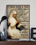 A Loved Knitting Poster No Framed