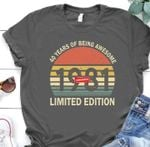40 years of being awesome 1981 limited edition tshirt