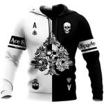 Ace spade hoodie all printed