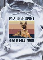 German shepherd my therapist has a wet nose hoodie