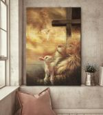 Jesus take my hand lion jesus cross goat god lovers poster