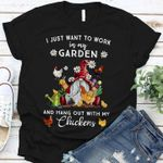 Gnomy i just want to work in my garden and hang out with my chickens shirt