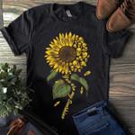 You are my sunshine skull sunflower tshirt