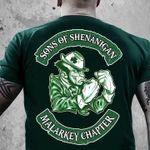 Sons of shenanigan malarkey chapter st patrick's day shamrock irish shirt
