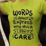 Words cannot express how much i don't care shirt