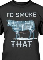 I'd smke that cow bbq barbecue lovers shirt