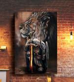 Jesus warrior lion god lovers poster
