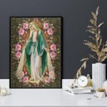 Maria wonderful flowers god jesus mother for lovers poster