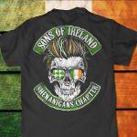 Sons of ireland shenanigans chapter shamrock clover for fan shirt