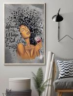 Easily distracted by music and wine poster canvas