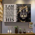 I am the son of king who is not moved by the world for my god is with me lion poster